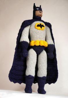 Realistic amigurumi Batman! Crochet pattern by #tinyAlchemy
