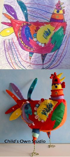 Child's Own Studio. Turn your child's drawing into a soft toy!! love this!