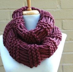 THE URBAN CHIC EXTRA LONG DROP STITCH MOBIUS COWL SCARF | PhylPhil - Knitting on ArtFire