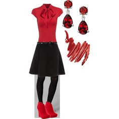 Red & Black, created by randomlylogical on Polyvore