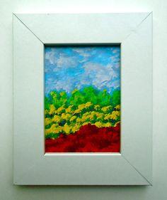 Meadow In Bloom 225 ORIGINAL MINIATURE PAINTING 2.5 x