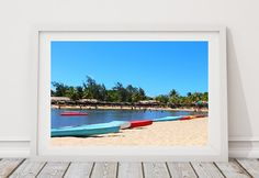 Group of Kayaks in a beach - Rio Grande do Norte, Brazil. Downloadable Instant Digital Photograph. by NiltonMacedo on Etsy
