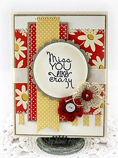 Miss you card by Stephanie Kraft using the Hope Blooms set by Verve Stamps.
