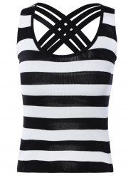 SHARE & Get it FREE | Striped Color Block Criss-Cross TopFor Fashion Lovers…