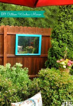 DIY: How to Make an Outdoor Mirror - DIY Garden