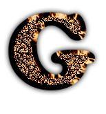 Alfabeto marrón metalizado. | Oh my Alfabetos!