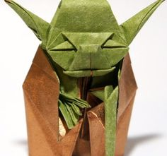 Fold this origami version of Yoda by following these YouTube instructions for a desk prop any Star Wars fan will love.  Source: YouTube user Jo Nakashima