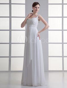 35fc4cc8 Floor-Length Ivory Sweetheart Neck Sheath Sequin Brides Wedding Dress  Billige Brudekjoler, Graviditet Stil