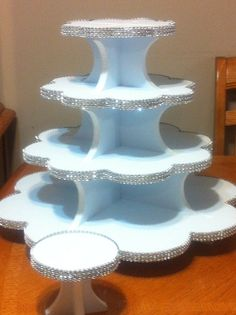 A Diamond Bling Cupcake Stand Custom sizes by CoutureBridal, $140.00