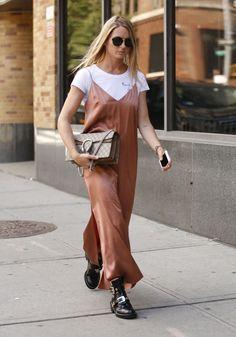 Como usar o slip dress em 2016, segundo a Semana de Moda de Nova York