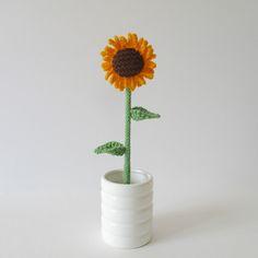 Sunflower Knitting pattern by Amanda Berry Easy Knitting Patterns, Free Knitting, Knitting Needles, Crochet Patterns, Knitting Ideas, Crochet Designs, Crochet Ideas, Sunflower Season, Pattern And Decoration