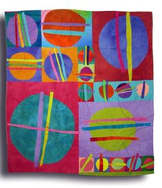 Slashed Circles by Melody Johnson Quilts, via Flickr