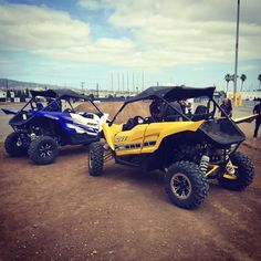 We're back... And so is Yamaha with its pure sport, three-cylinder, and five-speed manual gearbox-powered YXZ 1000R. Best Atv, Polaris Atv, Atv Riding, Go Outside, Monster Trucks, The Incredibles, Yamaha, Manual, Fitness