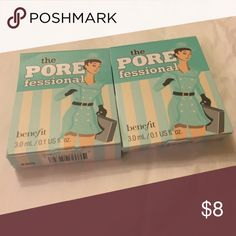 The pore fessional porefessional benefit Set of 2!    I get so many subscription boxes that I'm always adding new stuff.  All cosmetics are never used or swatched.  Because I understand that shipping can seem high I always have a bundle discount of at least 20% off 2+. Benefit Makeup