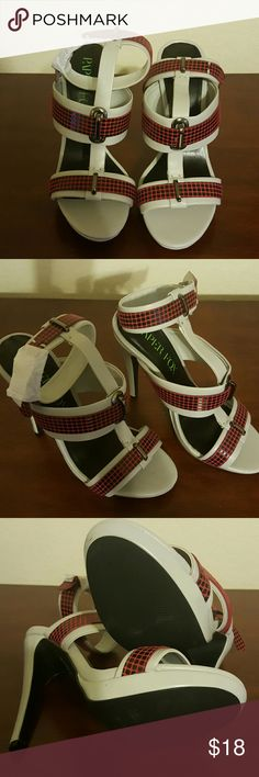 New Sandal Heels Brand new, no box.  Purchased for my wife but she didn't like them.  Never been worn,  still has a part of original packaging paper. Paper Fox Shoes Sandals