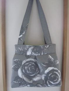 Shoulder Pleated Handbag Purse Ipad Netbook by Antiquebasketlady #shabbyChic #roses