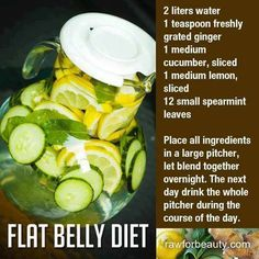 Flat Belly Diet recipe - Drink this delicious lemon-water AND eat healthy . and THINK healthy thoughts Healthy Detox, Healthy Drinks, Get Healthy, Healthy Life, Healthy Living, Healthy Water, Nutrition Drinks, Detox Foods, Healthy Food