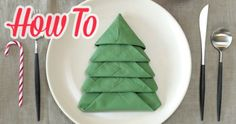 How To Fold Your Napkins Like a Christmas Tree