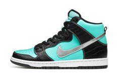 "Diamond Supply Co. x Nike SB Dunk High ""Tiffany""."