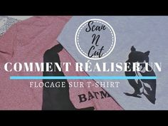 Réaliser un flocage sur T-Shirt... [Scan N Cut] - YouTube Scan N Cut, T Shirt, Scrap, Silhouette, Flocking, Drawing Ideas, Template, Sewing, Bags