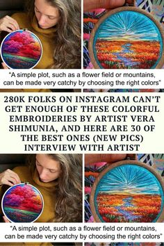280k people on Instagram know Vera Shimunia as an embroidery master who creates amazing landscape scenes using a thread instead of paint. Bored Panda Funny Corny Jokes, Crazy Funny Memes, Really Funny Memes, Funny Facts, Hilarious, Cute Stories, Weird Stories, Moral Stories, Small Acts Of Kindness