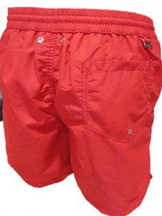 Bikkembergs Boxer Mare Uomo Rosso Costume da Bagno medio men short HOMME