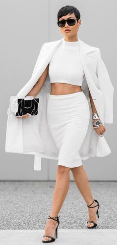 White On White Chic Outfit by Micah Gianneli