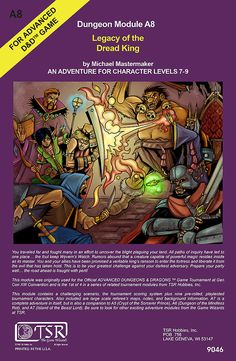 Retro Dungeons and Dragons Module Poster 4 by WarpzoneGraphics