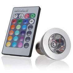 3W E27 Remote Control LED Bulb Light 16 Color Changing - US$4.09