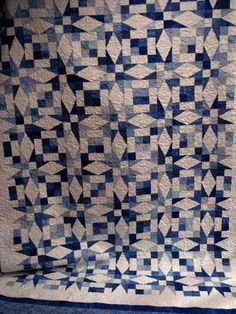 Barbara's Blue and White Star Quilt.