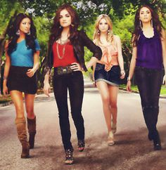 pretty little liars :) Emily, Aria, Hannah, & Spencer!