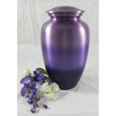 Purple passion cremation urn for ashes from Urn Garden, plus other purple urns and jewelry