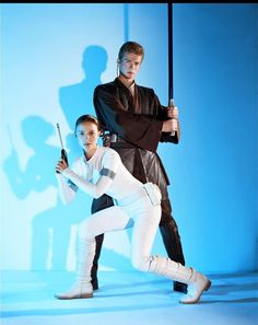 Another promotional still because Padme's gun has a skinny barrel and Anikan's lightsaber isn't glowing.