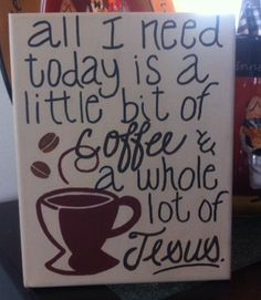 Religious coffee themed canvas painting. Perfect by EaselyDesigned, $15.00