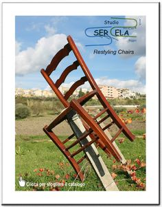 Studio tecnico SerEla - Restyling Chairs Outdoor Chairs, Outdoor Furniture, Outdoor Decor, Stairs, Studio, Home Decor, Stairway, Decoration Home, Room Decor