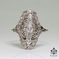 Rate this from 1 to Vintage Jewelry Art Deco Diamond Sapphire Platinum Ring 18 Unbelievably Beautiful Vintage Rings Inspired By Art Deco Antique Art Deco Anel Art Deco, Art Deco Schmuck, Bijoux Art Deco, Art Deco Ring, Art Deco Diamond, Art Deco Jewelry, Fine Jewelry, Jewelry Design, Jewelry Box