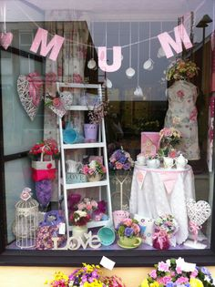 Mother's Day window display