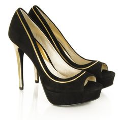 Michael Kors Black Suede Bethany Peep Toe Women's High Heel