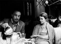 romain gary and wife jean sober Jean Seberg, Romain Gary, Writers And Poets, Big Love, Beautiful Couple, Black And White, Celebrities, Sober, Arts