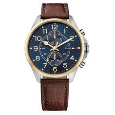 0b498fdc938 Relógio Tommy Hilfiger Masculino Couro Marrom - 1791275 Couro Marrom