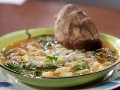 Rachael's 3-Bean Minestrone : Perfect for mopping up with crusty bread, Rachael's three-bean minestrone packs some serious healthful flavor.