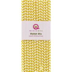 Lemon Chevron Stylish Stix Paper Drinking Straws   Shop Hobby Lobby