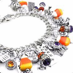 Candy Halloween Jewelry, Corn Candy Charms, Halloween Bracelet - Blackberry Designs Jewelry