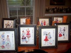 I have a lot of old sewing patterns from my childhood...this is a good idea for them.