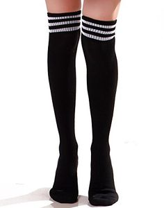 7ba2349d5 HDE Women's Extra Long Athletic Soccer Rugby Football Sport Tube Socks,  http://