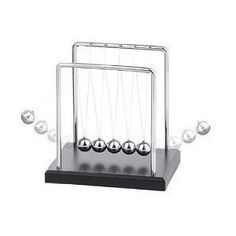 """Westminster Newtons Cradle with Black Wood Base by Westminster, Newton's Cradle or Collision Balls Apparatus Small To demonstrate Newton's Law of Motion that """"For every action, there is an equal & opposite reaction"""". Also demonstrate kinetic energy. Corporate Awards, Corporate Gifts, Newton's Cradle, Desk Toys, 30 Gifts, Gadget Gifts, Desktop Accessories, Ultrasound, Black Wood"""