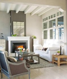 #Fresh + #Neutral Living Room layout of the room