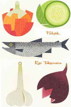 Ryo Takemasa graduated from Musashino Art School. He has been a freelance illustrator since and his work is used for books, magazines and advertising … Plant Illustration, Graphic Design Illustration, Watercolor Illustration, Ryo Takemasa, Food Sketch, Japanese Flowers, Drawing Reference Poses, Freelance Illustrator, Kitchen Art