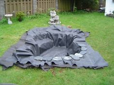 rangement-pierre bassin de jardin