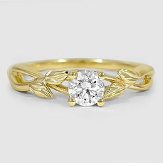 18K Yellow Gold Budding Willow Ring